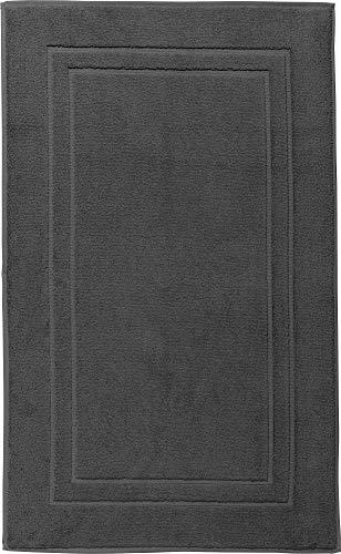 Erwin Müller Walk-Frottier Badteppich Konstanz anthrazit Größe 70x120 cm - besonders flaumig, voluminös, trittweich, strapazierfähig und saugstark, 100% Baumwolle