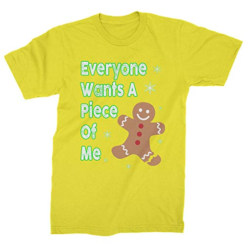 Expression Tees Mens Everyone Wants A Piece of Me Gingerbread T-Shirt XX-Large Yellow