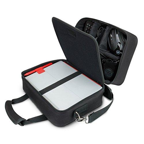 USA Gear Sac de voyage pour appareils électroniques avec compartiments de rangement, bandoulière réglable et intérieur rembourré – Fonctionne avec tablettes, projecteurs de voyage et plus encore