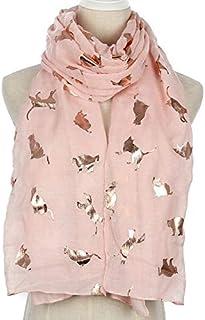 NUOVO Design Glitter Gatto Stampa Animale Sciarpa Donna Collo Wrap Hijab 4 COLORI