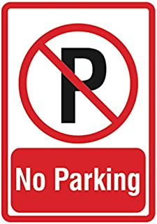 Large No Parking Sign - Parking Lot Business Signs Inch - Aluminum Metal 4 Pack, 12x18
