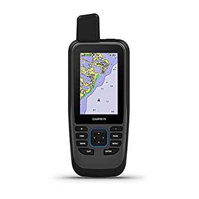 Garmin GPSMAP 86SC, Floating Handheld GPS with Button Operation, Preloaded BlueChart G3 Coastal Charts, Stream Boat Data from Compatible Chartplotters from Garmin