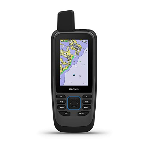 Garmin GPSMAP 86SC, Floating Handheld GPS with Button Operation, Preloaded BlueChart G3 Coastal Charts, Stream Boat Data From Compatible Chartplotters