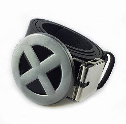 SGerste hebilla de cintur/ón cl/ásica reversible de aleaci/ón de metal resistente para hombre con una sola clavija