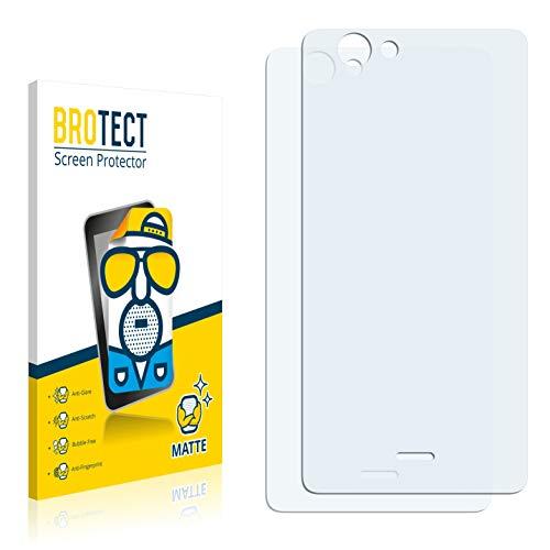 BROTECT 2X Entspiegelungs-Schutzfolie kompatibel mit Wiko Highway Signs (Rückseite) Bildschirmschutz-Folie Matt, Anti-Reflex, Anti-Fingerprint