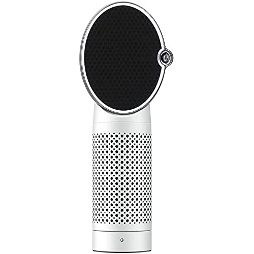Purificador de aire Limpiador de aire de filtro de ruido bajo real HEPA y filtro de carbón activado con generador de iones negativos, USB Limpiador de aire con luz nocturna para alergias, humo de ciga