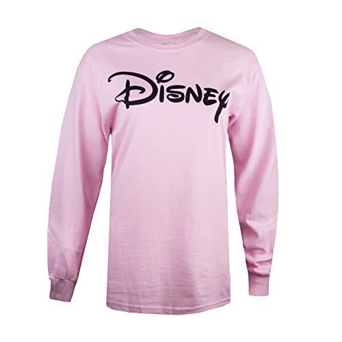 Disney Logo T-Shirt À Manches Longues, Rose (Light Pink Ltpk), 44 (Taille Fabricant: X-Large) Femme