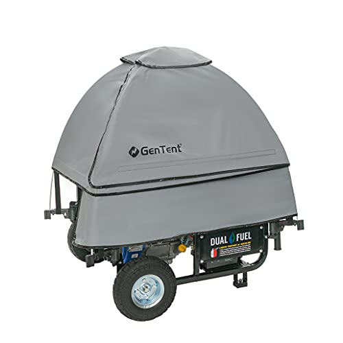 GenTent 10k Generator Tent Running Cover - Universal Kit (Standard, Grey) - Compatible with 3000w-10000w Portable Generators