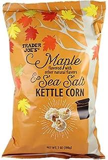 Trader Joe's Maple & Sea Salt Kettle Corn - 2 Pack of 7oz Each