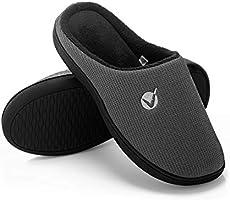 SEVEGO Zapatillas de Estar por Casa de Hombre de Viscoelástica, Cómodos Zapatos de Dormitorio Hechos de Algodón Tejido...