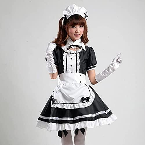 Cloudy Disfraz de sirvienta Francesa Sexy Dulce gtico Lori Tower Dress Anime Mujer Ropa de Halloween