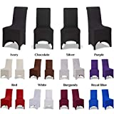 Covering All Occasions Stretch Fit Chair Cover for Dining Room | Arched Fronted | White Black Ivory (4pcs, Black)