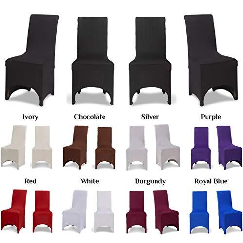 Funda elástica para sillas, con parte frontal arqueada