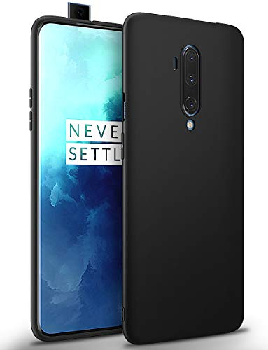 BENNALD Hülle für Oneplus 7T Pro Hülle, Soft Silikon Schutzhülle Hülle Cover - Premium TPU Tasche Handyhülle für Oneplus 7T Pro (Schwarz,Black)