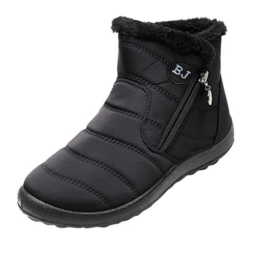 Botas de Nieve Mujer Impermeable Invierno POLP Botas de algodón Impermeables para Mujer Botines Mujer Invierno con Cremallera Zapatos de algodón con Terciopelo