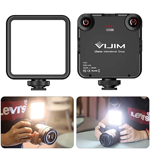 VL-81 LED Video Light w Softbox, Portable Camera Photo Light CRI95+ 3200K-5600K Bi-Color 3000mAh Rechargeable Battery Dimmable Panel for DJI OSMO Mobile 3 Pocket Sony A6400 6500 GoPro 8 7 6 5 Vlogging