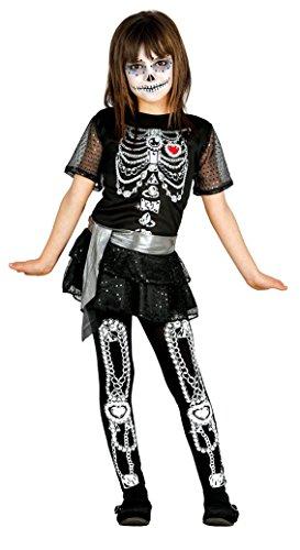 Fiestas Guirca GU_85809 Déguisement de Squelette pour Fille Noir/Blanc 5/6 Ans