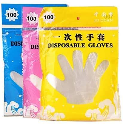 Handschoenen van kunststof, wegwerphandschoenen, latex handschoenen, 100 stuks set, levensmiddelen, plastic handschoenen, restaurant, grill-milieuvriendelijke levensmiddelen, handschoenen, fruit- en groentehandschoenen, keukenhulp