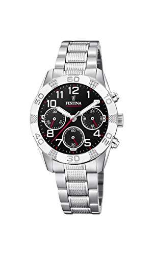 Festina Jungen Chronograph Quarz Uhr mit Edelstahl Armband F20345/3
