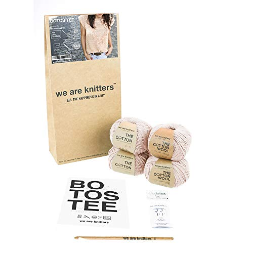 We Are Knitters, Crochet Botos Tee, Blush