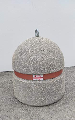 ARTISTICA GRANILLO DISSUASORE in Cemento,INERTI A Vista, Misura H 55 DIAM. 50 CM.