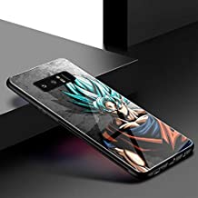 Dragon Ball Z Goku Ultra Instinct Hard Back Tempered Glass Case for Samsung Galaxy Note 8 9 S8 S9 Plus S10 Plus S10 Lite Luxury Eye-caching Back Cover (1, Galaxy Note 9)