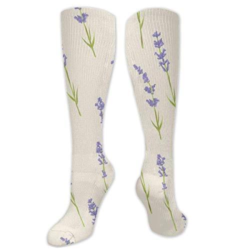 XIUZHEN calcetines de rodilla personalidad lavanda calcetines divertidos novedad para mujeres y hombres niñas niños viajes escuela fiesta cosplay, calcetines unisex