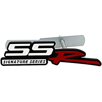 White Red 1 Pcs Grille SSR Alloy Logo Emblem Badge Replacement For Chevrolet