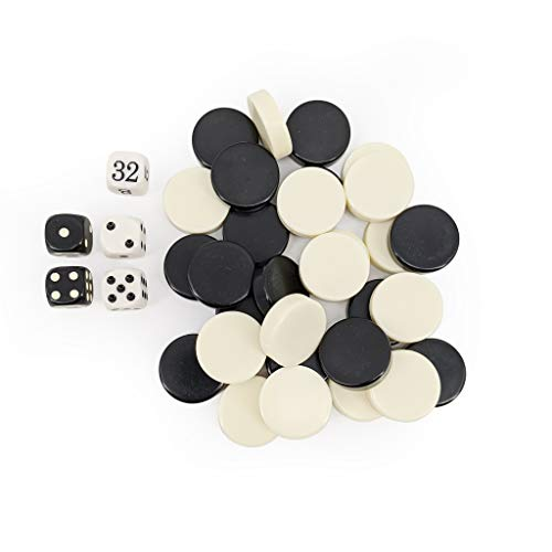 Sondergut Reise Backgammon Ersatz Spielsteine und Würfel