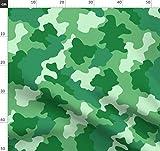 Tarnfarbe, Grün, Hellgrün, Tarnfarben, Abstrakt Stoffe -