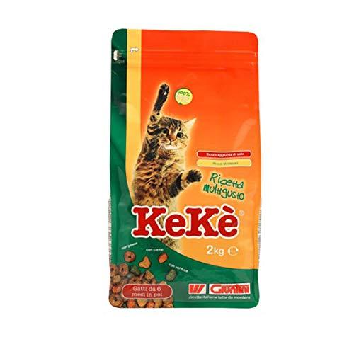 Giuntini Kekè Ricetta Multigusto 20kg Mangime per Gatti da 6 Mesi in Poi