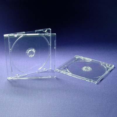 DragonTrading - 10 custodie per CD/DVD trasparenti da 8 cm, per dischi piccoli da 8 cm