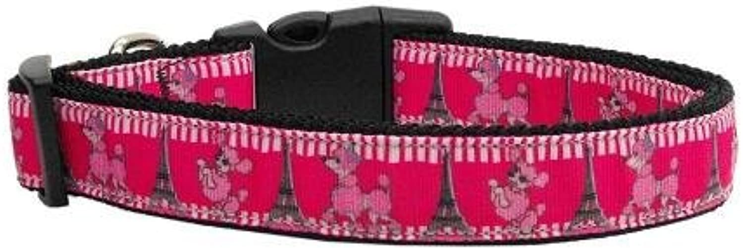 Mirage Pet Products Poodles in Paris Nylon Ribbon Collars for Pets, Large