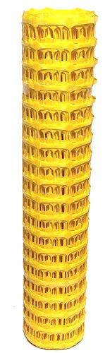 UvV® Fangzaun Absperrnetz gelb, Warnzaun, Kunststoff-Absperrzaun, 50 m Rolle, 7,5 kg (150 g. m²) - Höhe 1 Meter