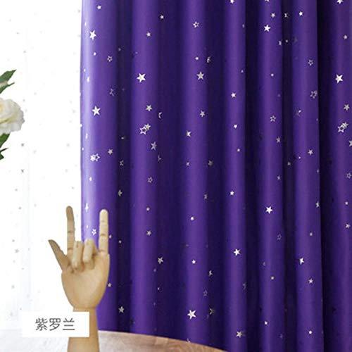 Shiny Stars Kinderen Doek Gordijnen Voor Kinderen Jongen Meisje Slaapkamer Woonkamer Blauw/Roze Verduisterende Cortinas Maatwerk Drape wp123# 30, Kleur 6 Doek, 1pc W100CM X H260CM