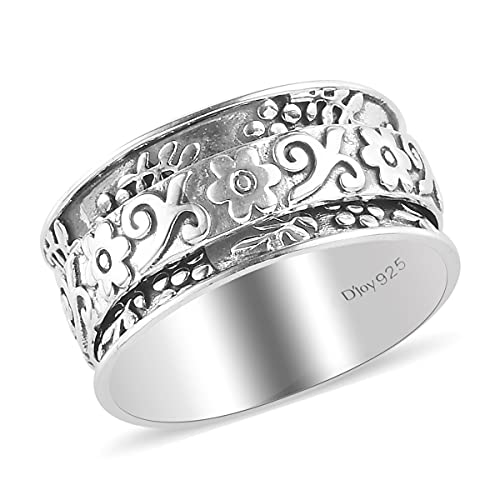 Stress Relieving Meditation Oxidized Spinner Ring by LC Delivering Joy Store