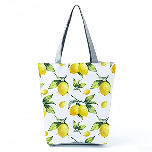 Large Capacity Female Single Shoulder Bag Characters Printed Canvas Tote Handbags Daily Use Canvas Shopping Bag Women Beach Bags-hl1238,37cm