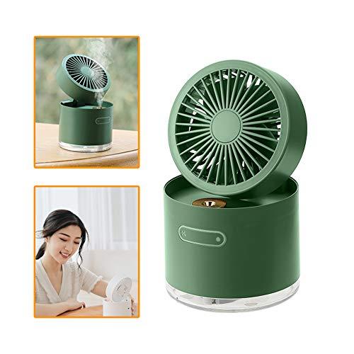 ATRNA Tafelventilator, USB-ventilator, ventilator met verstelbare kop, 3-snelheden, mini-formaat, voor thuiskantoor en buiten groen
