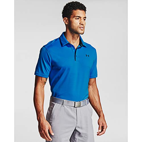 Under Armour Men's Tech Golf Polo , Electric Blue (428)/Pitch Gray, X-Large
