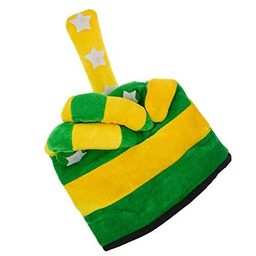 ABOOFAN Disfraz Sombrero Felpa Dedo Medio Sombrero Novedad Estrella Trébol Sombreros St. Día de Patricio para St. Apoyos de La Foto de La Fiesta de Patrick Tamaño Libre