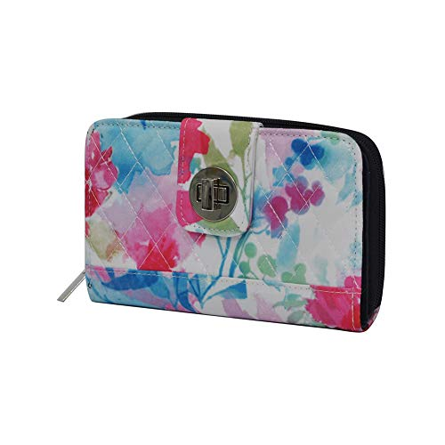 Summer Watercolor NGIL Quilted Twist Lock Wallet