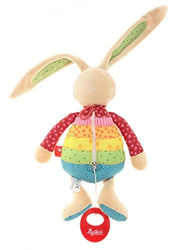 sigikid, Mädchen, Spieluhr, Stofftier Hase Rainbow Rabbit, Rot/Mehrfarbig, 40577 - 4