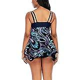 Encubrimientos De Traje De BañO para MujeresWomen Sexy Soild Print Bikini Set Push Up Bathing Swimwear High Waist Swimsuit