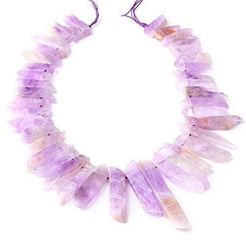 KUQIQI Top PRODUCTADOS PRODUTAMENTOS NATTHISTS Spike Slick Stick Stick Lote Beads Purple Cristal DE CUARTZ Puntos Puntos Puntos Pendientes Pendientes para LA JOYERA Que Hace (Color : Half Strand)