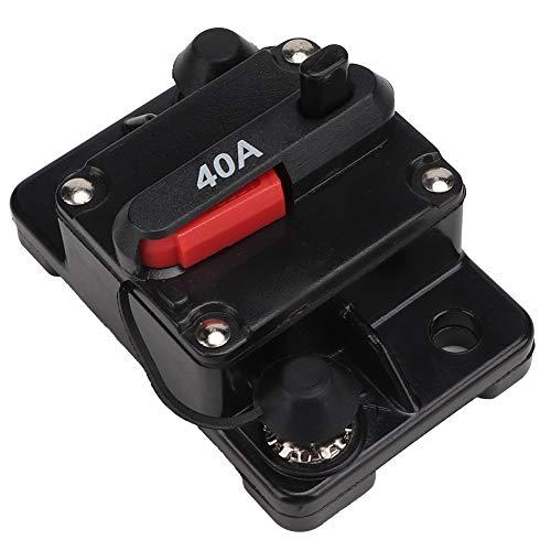 Sicherung für Leistungsschalter, 12V 30A / 40A / 60A Autoradio Rückstellbare Inline-Sicherung für Leistungsschalter zur Selbstwiederherstellung zum Schutz des Autoradio- und Videosystems(40A)