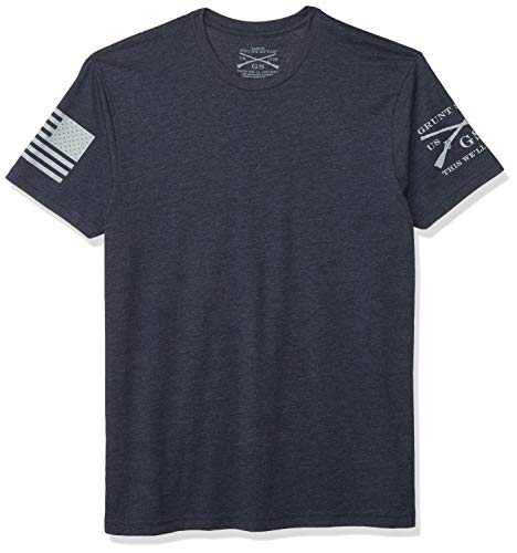 Grunt Style Basic Crew Men's T-Shirt, Color Midnight Navy, Size XX-Large