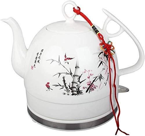 Bouilloires en céramique Bouilloire électrique sans Fil Eau Teapot, Teapot-Retro 1.2L Jug Rapide 8bayfa