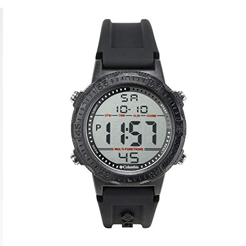Columbia Men's Polycarbonate Digital Movement Sport Watch with Silicone Strap, Black, 6 (Model: CSS14-001)