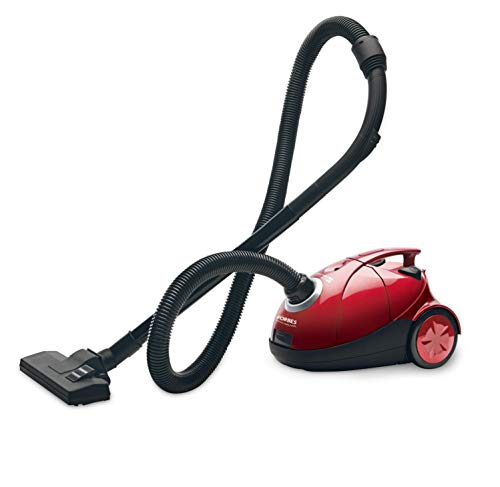 Eureka Forbes Quick Clean DX 1200-Watt Vacuum Cleaner for Home with Free Reusable dust Bag (Red)