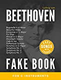 Beethoven Fake Book for C Instruments: Fur Elise, Moonlight & Pathetique Sonata, Symphony No. 5, 6, 7; Ode to Joy and more I Easy Piano Keyboard Guitar ... for Beginners Kids Adults (English Edition)